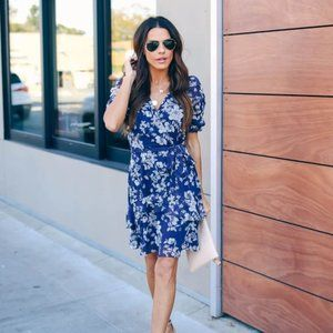 VICI MOTHER NATURE FLORAL PUFF SLEEVE RUFFLE DRESS